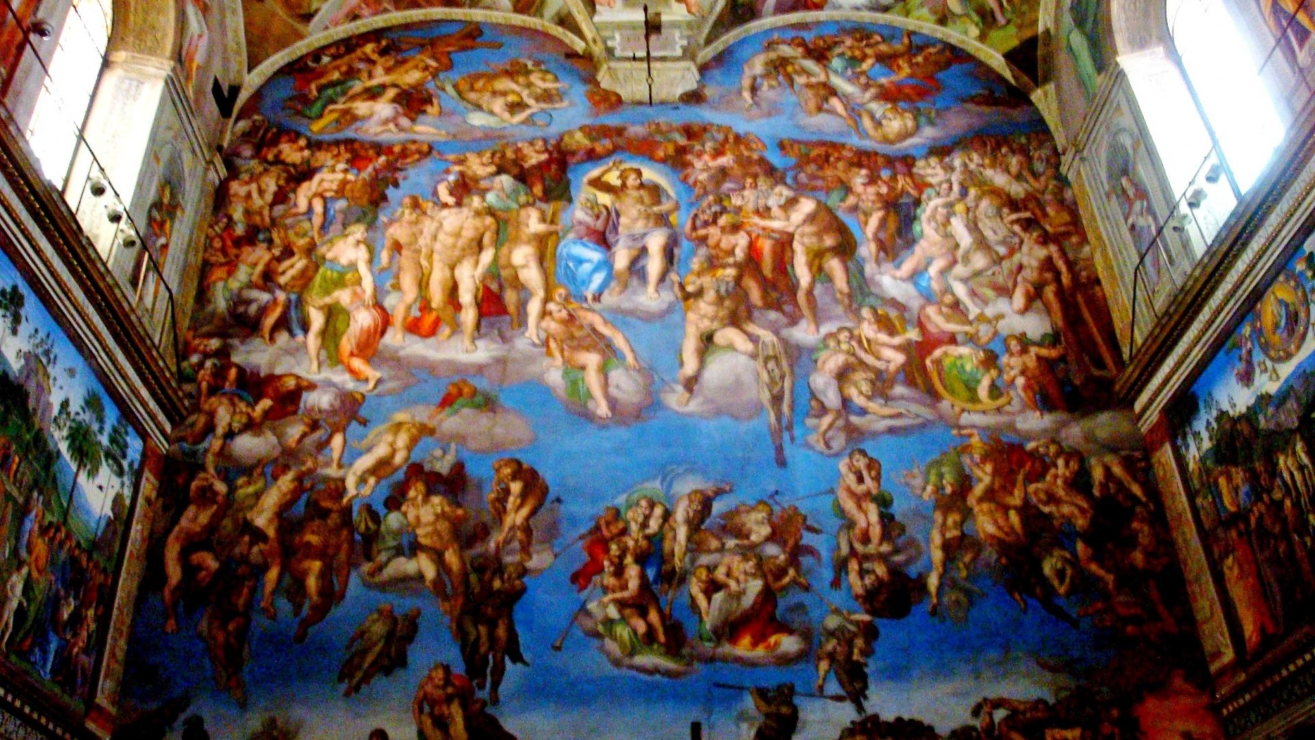 Download Pin Sistine Chapel Ceiling Wallpaper [2473x1855] 47 1920x1080