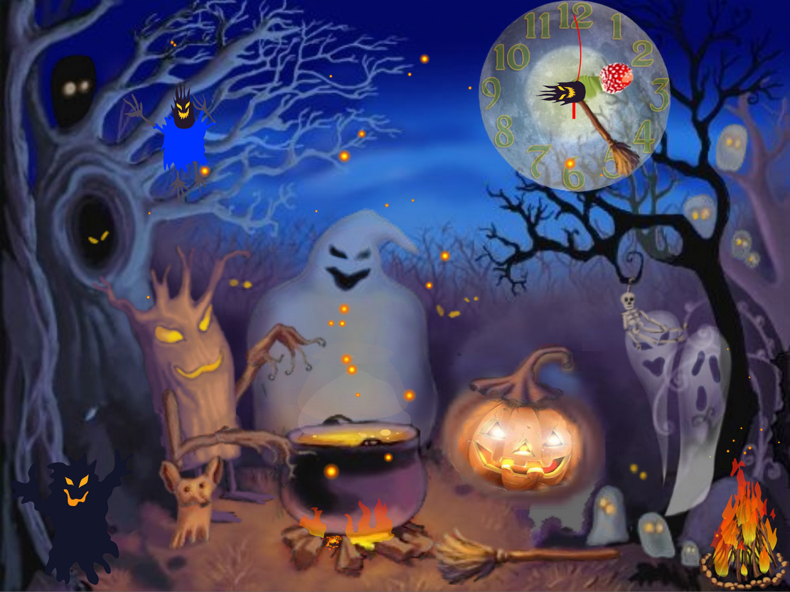 animated halloween wallpaper witches - photo #34