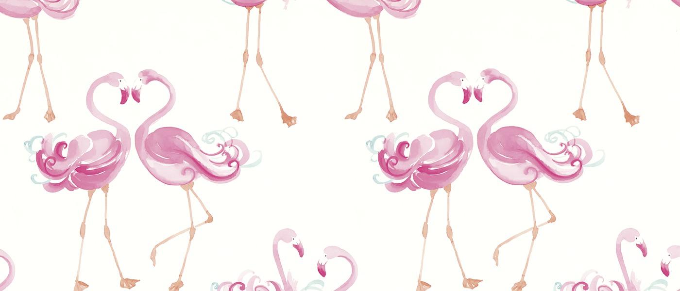 Pretty Flamingo Wallpaper at Laura Ashley 1400x600