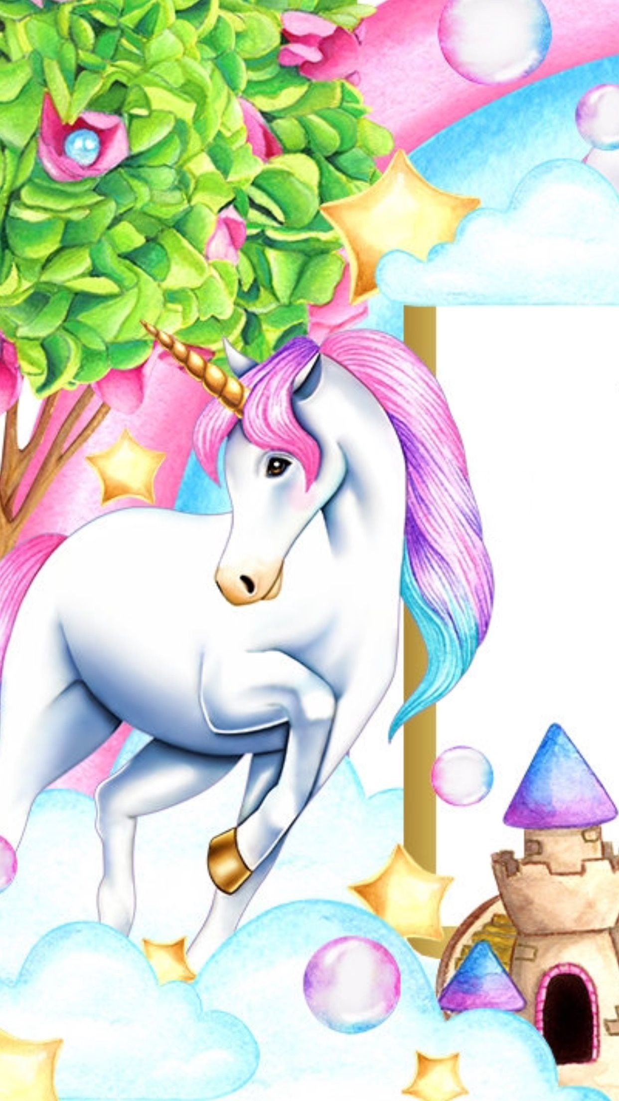 Free Download 73 Cartoon Unicorn Wallpapers On Wallpaperplay