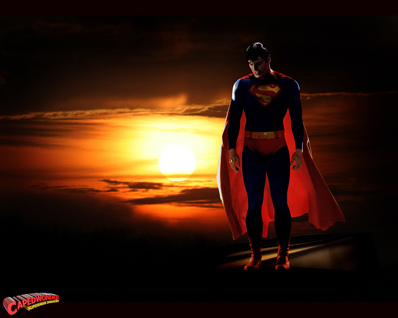 Download Superman Other wallpaper superman sunset 1280x1024