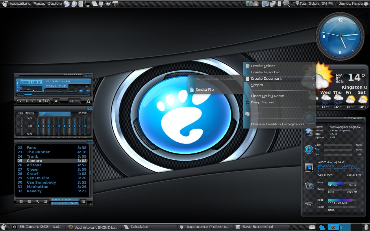 Azenis Theme Pack 02   Tema completo en deb para Ubuntu   Taringa 1280x800