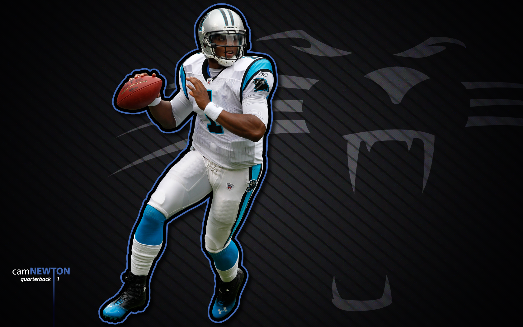 cam newton wallpaper 1 by jb online d4ameiupng 1680x1050