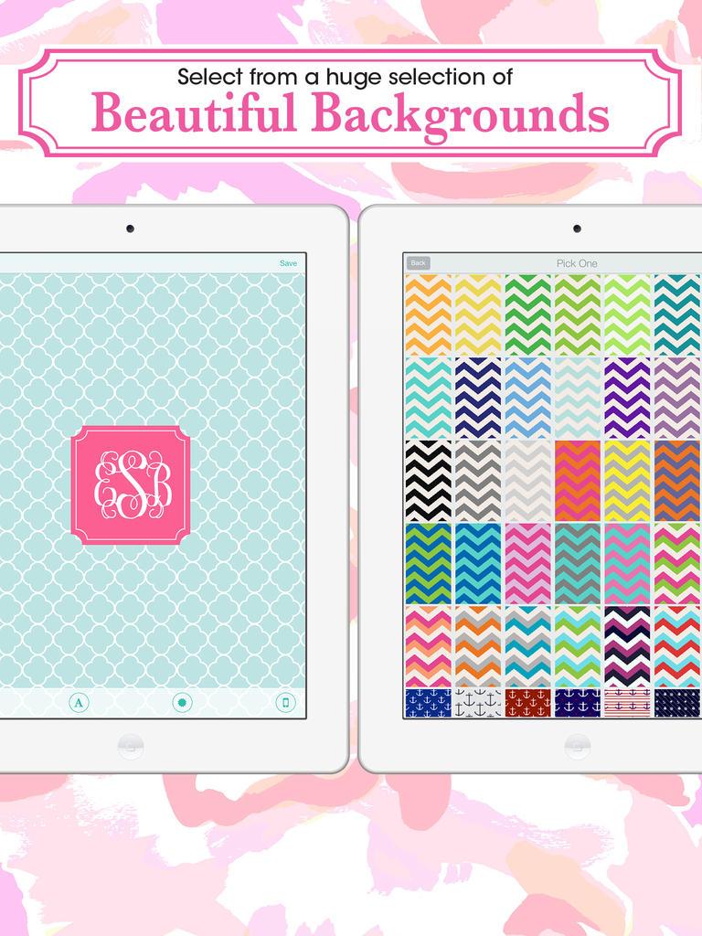 App Shopper Monogram Lite   Wallpaper Backgrounds Maker HD with 768x1024