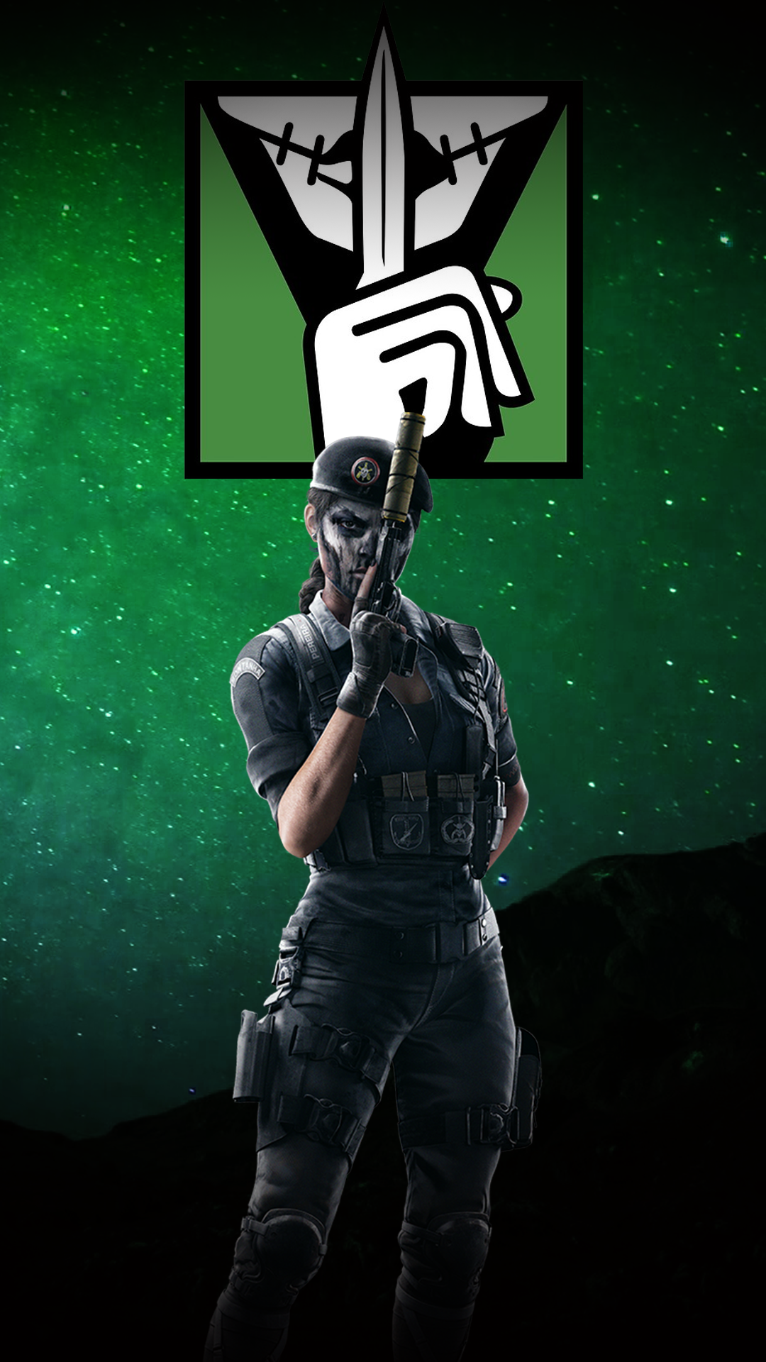 Free Download Caveira Wallpaper Rainbow6 1080x1920 For Your