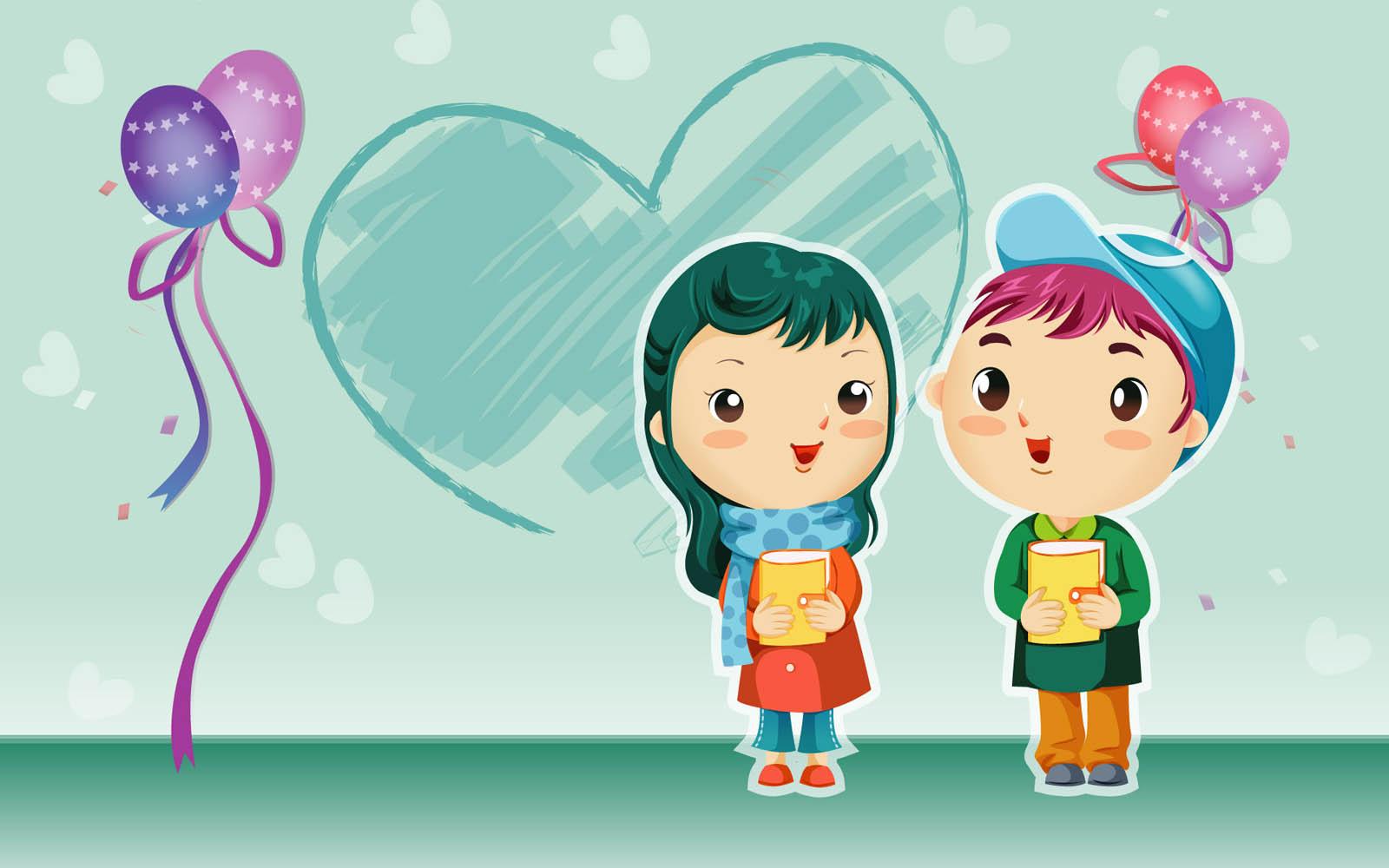 75 ] Love Cartoon Wallpaper On WallpaperSafari