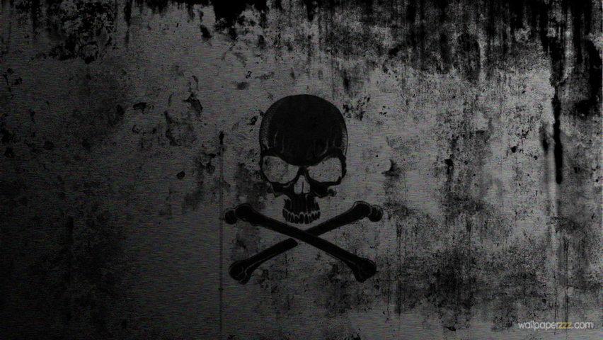 Download Black Skull HD Wallpaper Wallpaper 852x480