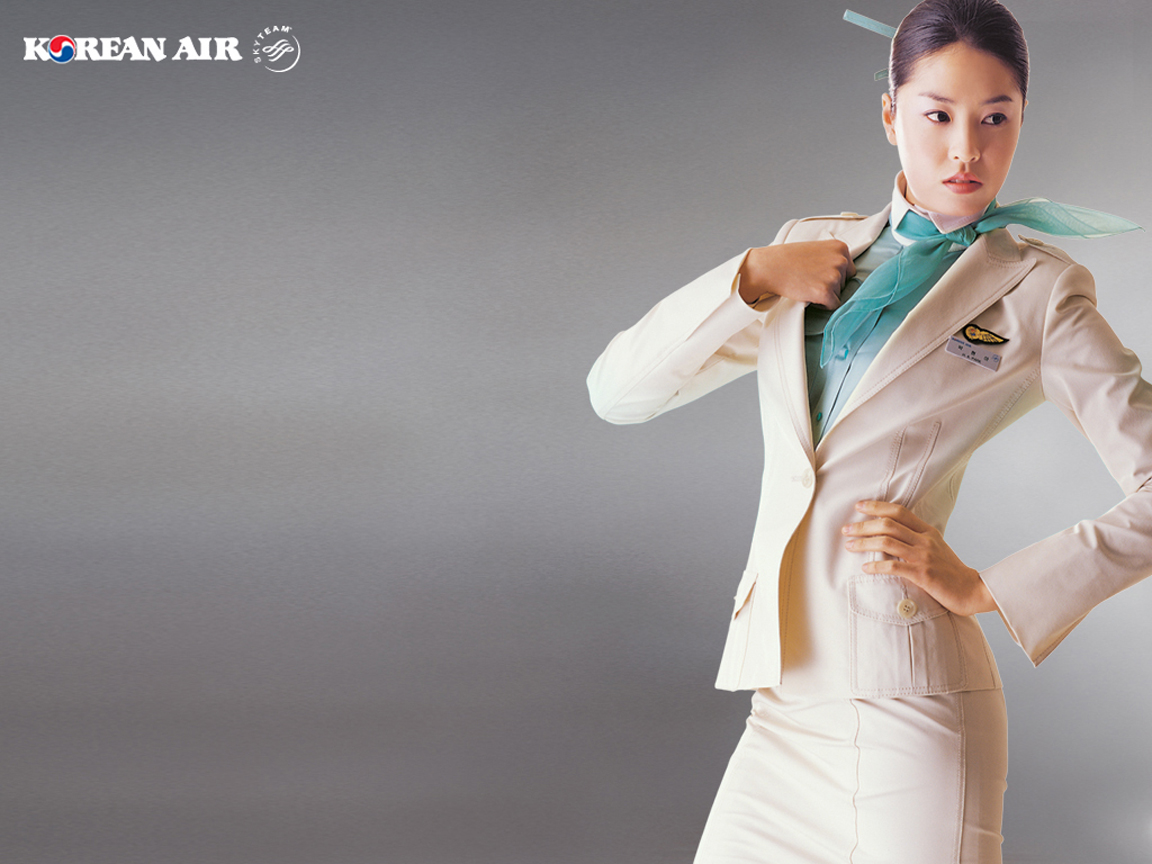 Korean Air Flight Attendant Uniform Style in the aisles the top ten 1152x864