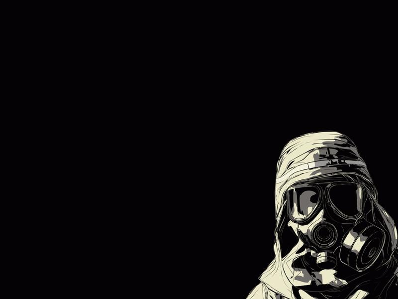 black white grey gas masks black background 1280x960 wallpaper Art 800x600