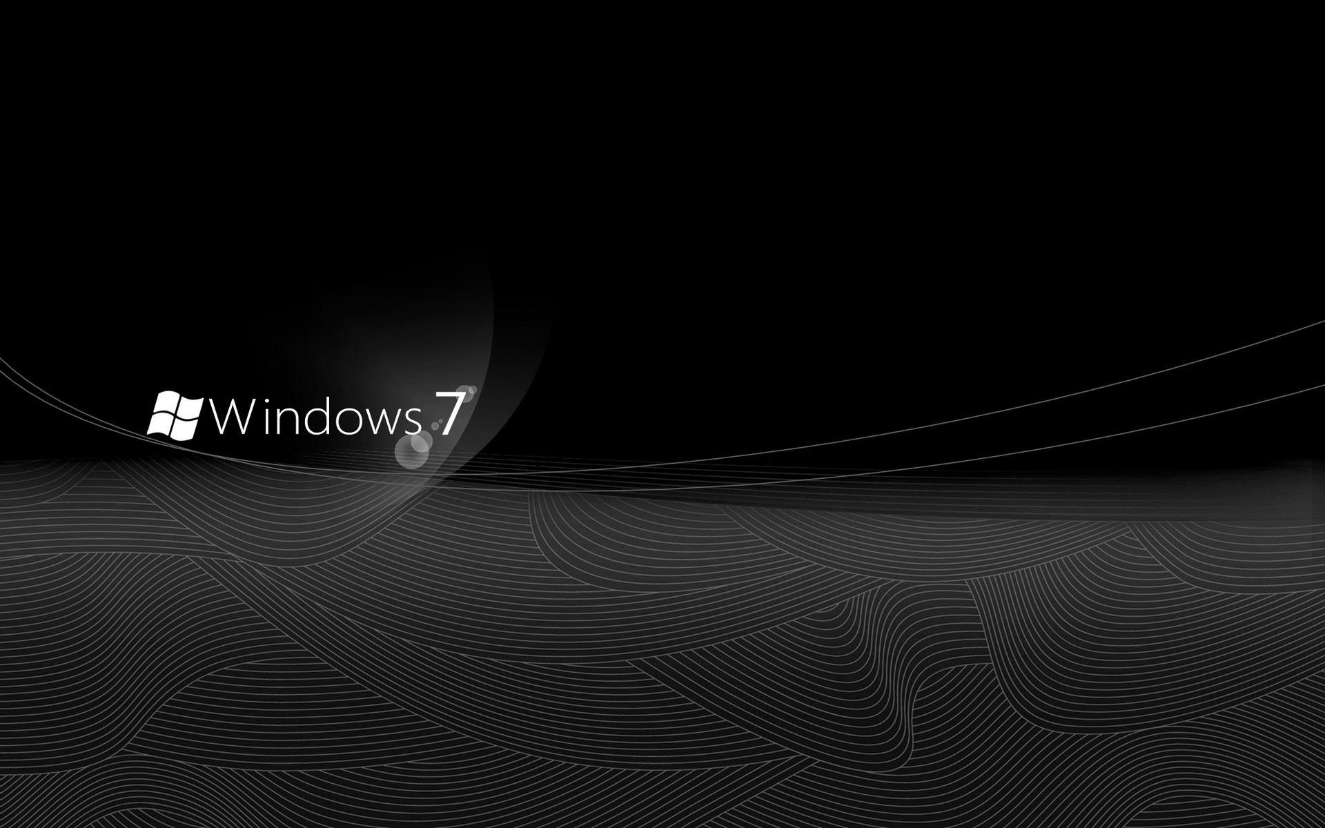 Black Windows 7 Exclusive HD Wallpapers 330 1920x1200
