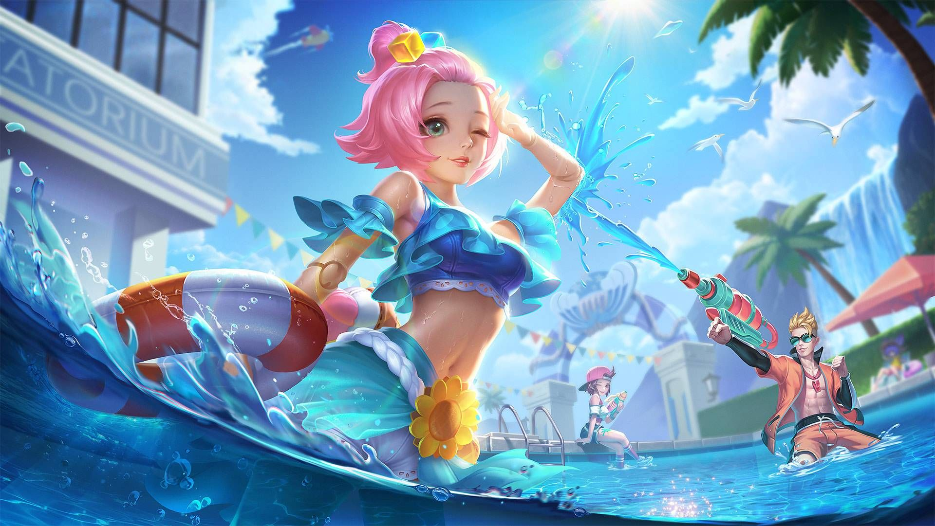 Angela Summer Vibes Wallpaper by ZeroGaro in 2021 1920x1081
