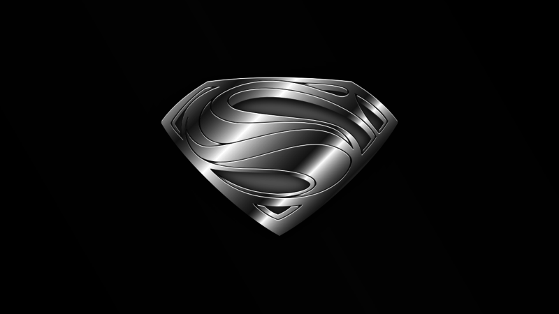 Man of Steel Hope Symbol CHROME Wallpaper by Pegbeard 800x450