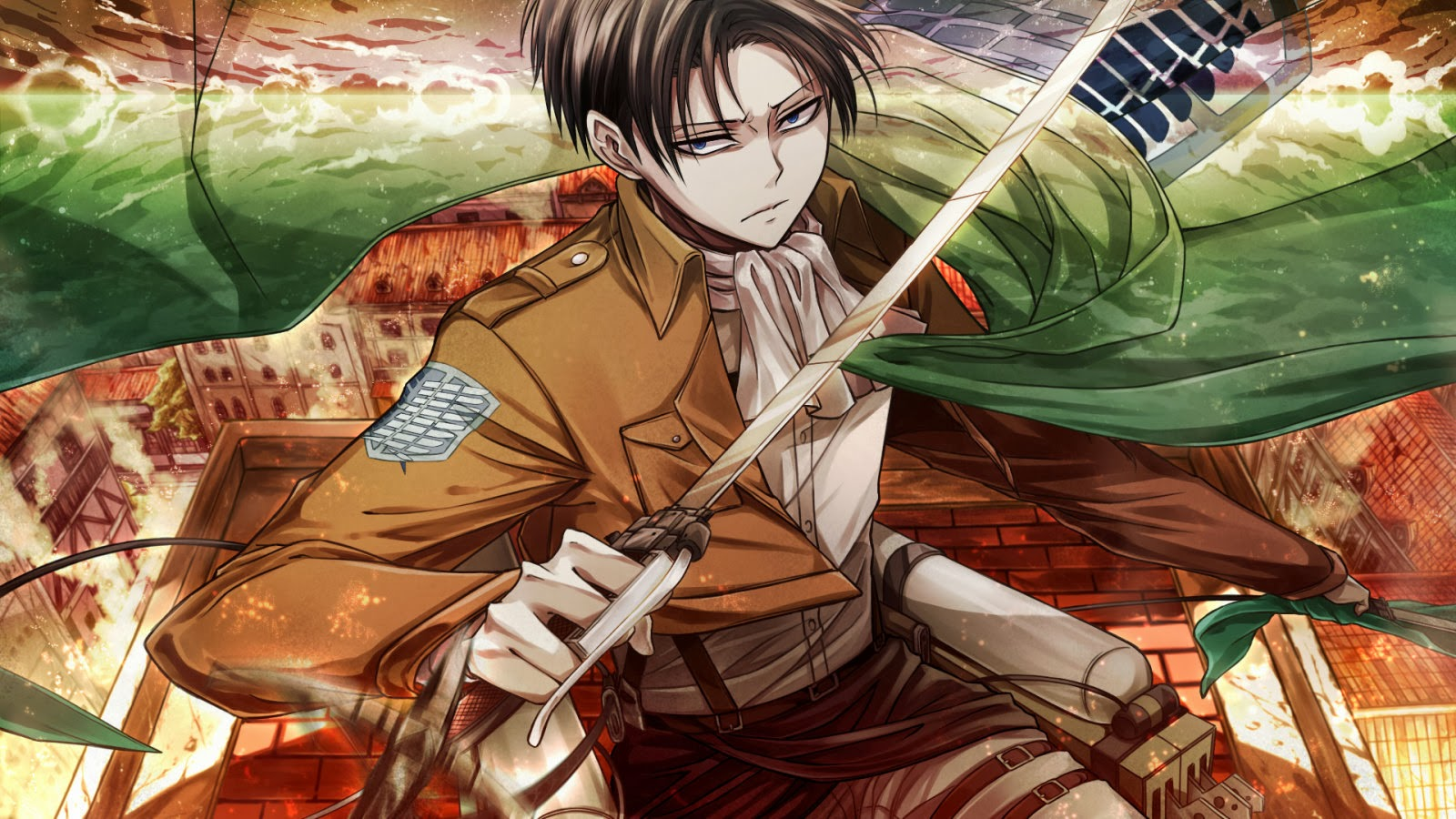 Levi Cape Survey Corps b07 HD Wallpaper 1600x900