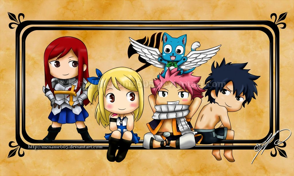 Fairy Tail Wallpaper Chibi Fairy tail   chibies by 1024x614