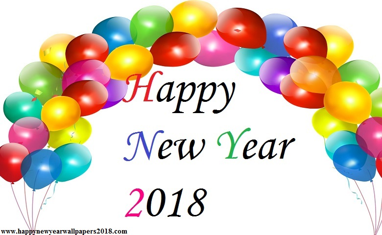 Happy New Year 2018 Balloon Wallpapers   HD Download 780x480