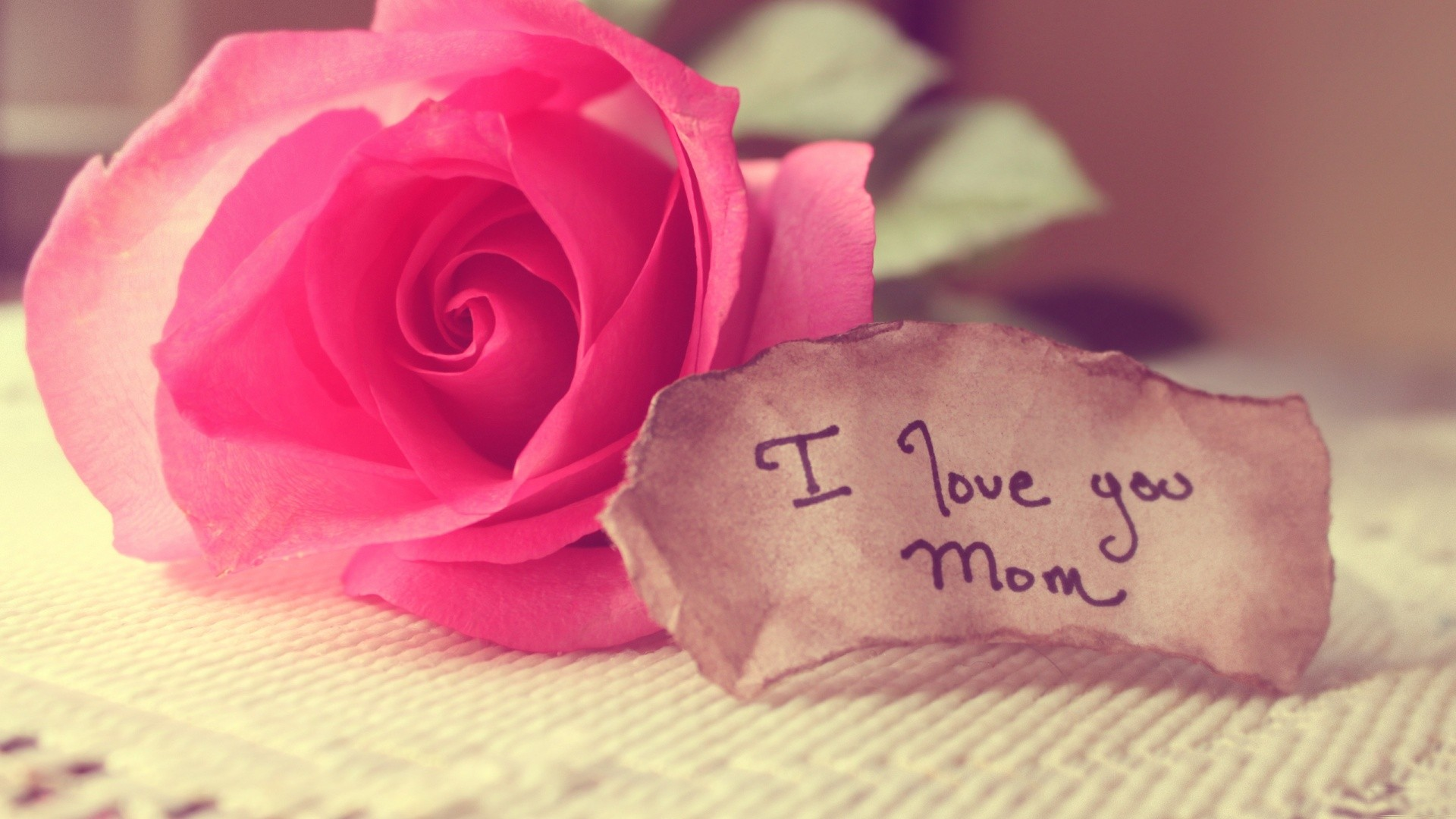 I Love You Mom Wallpapers HD Wallpaper of Love 1920x1080