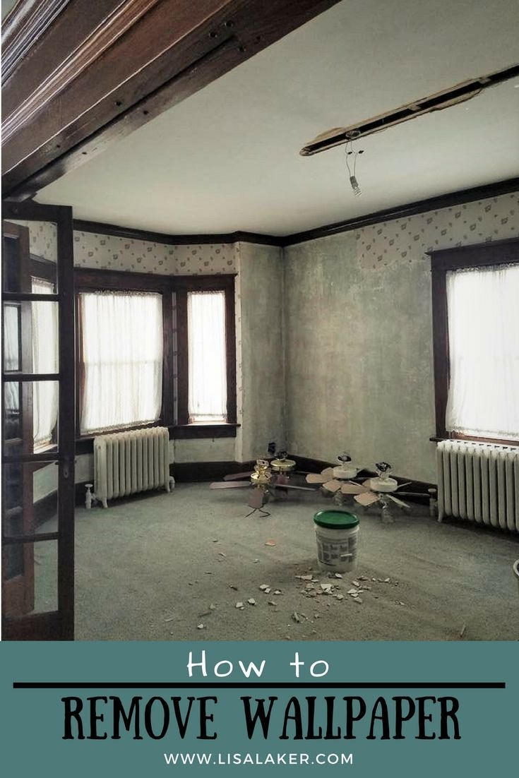 Removing Wallpaper DIY Home Decor Crafts Projects and Ideas 735x1102