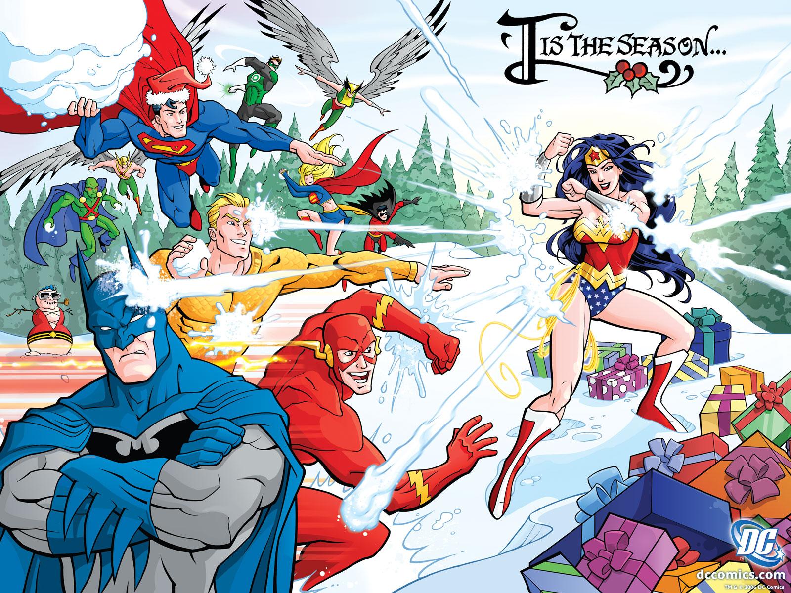 Kids n fun Wallpaper Comic Book Heroes 1600x1200