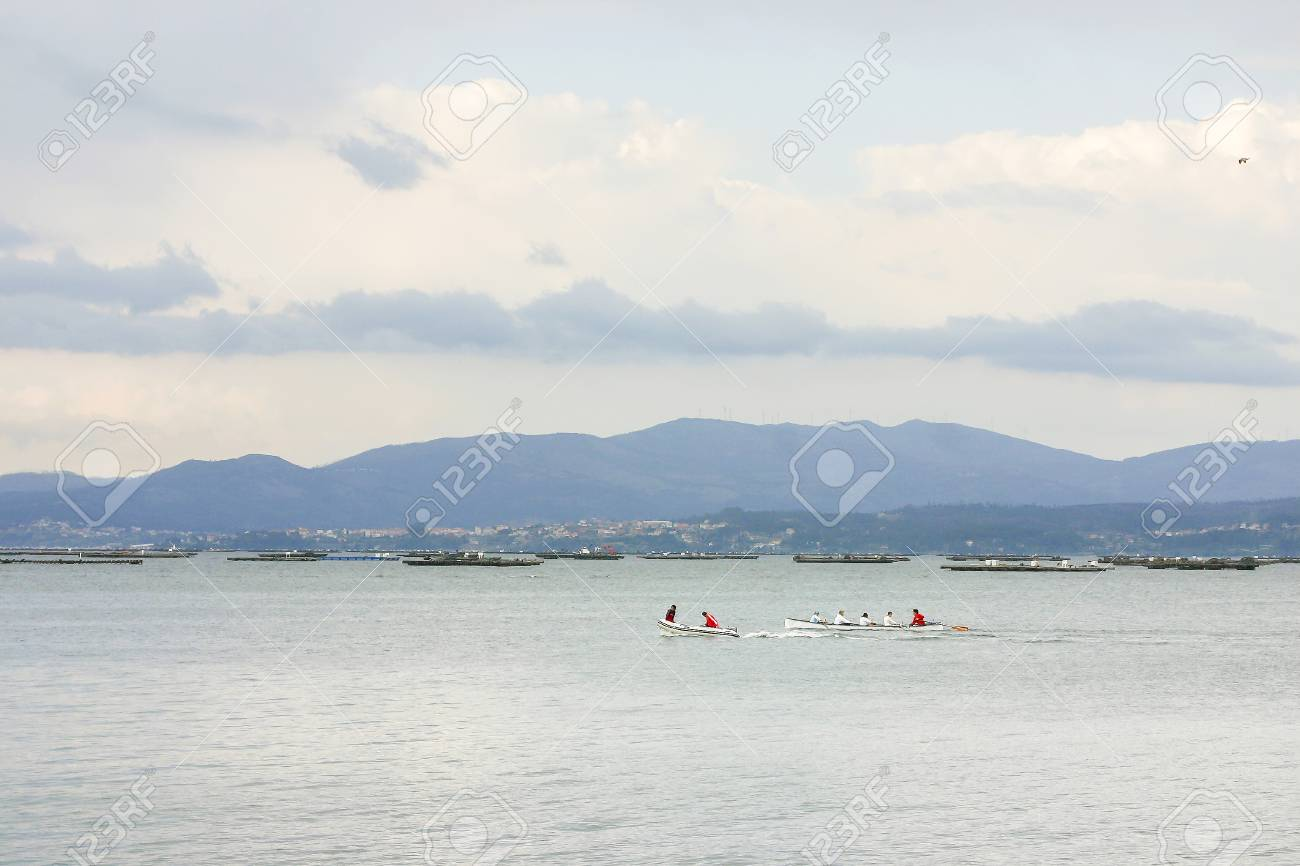 Canoeing On Arousa Estuary With Mussel Aquaculture Rafts At 1300x866