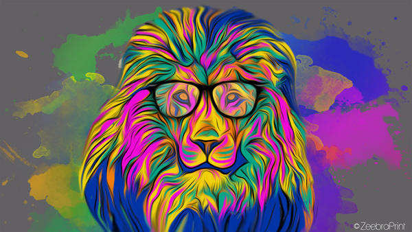 Lion Art Wallpaper Wallpapersafari