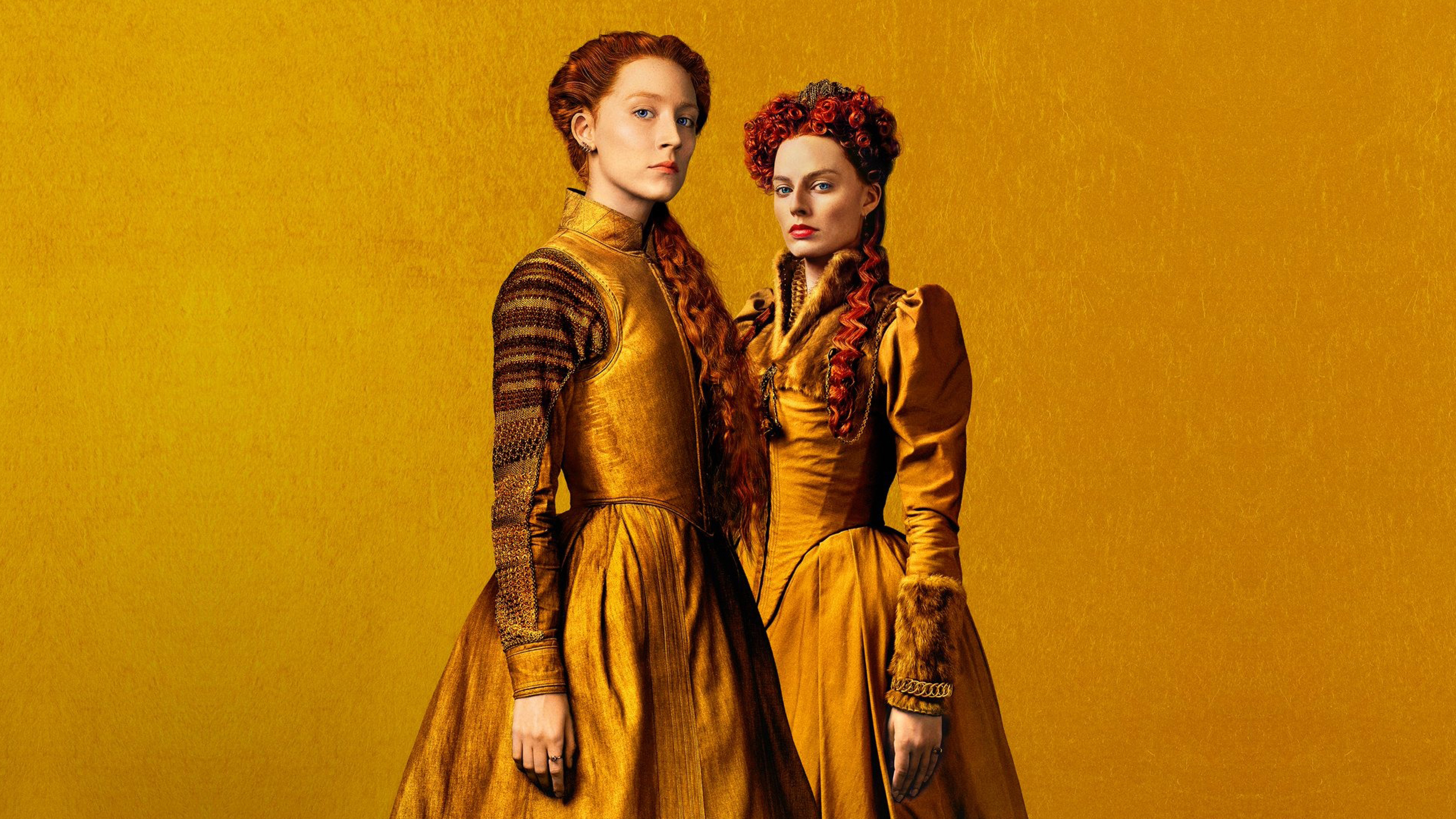 7680x4320 Margot Robbie and Saoirse Ronan in Mary Queen of Scots 7680x4320