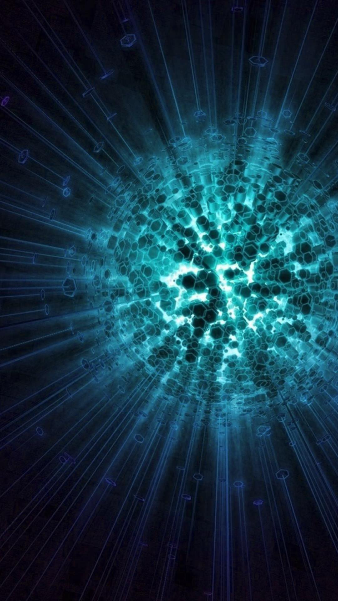 Illustration blue black cool explosion wallpapersc SmartPhone 1080x1920