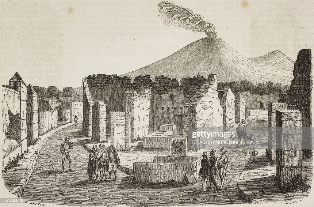 Ruins of Pompeii with Vesuvius in the background Italy News 1024x676
