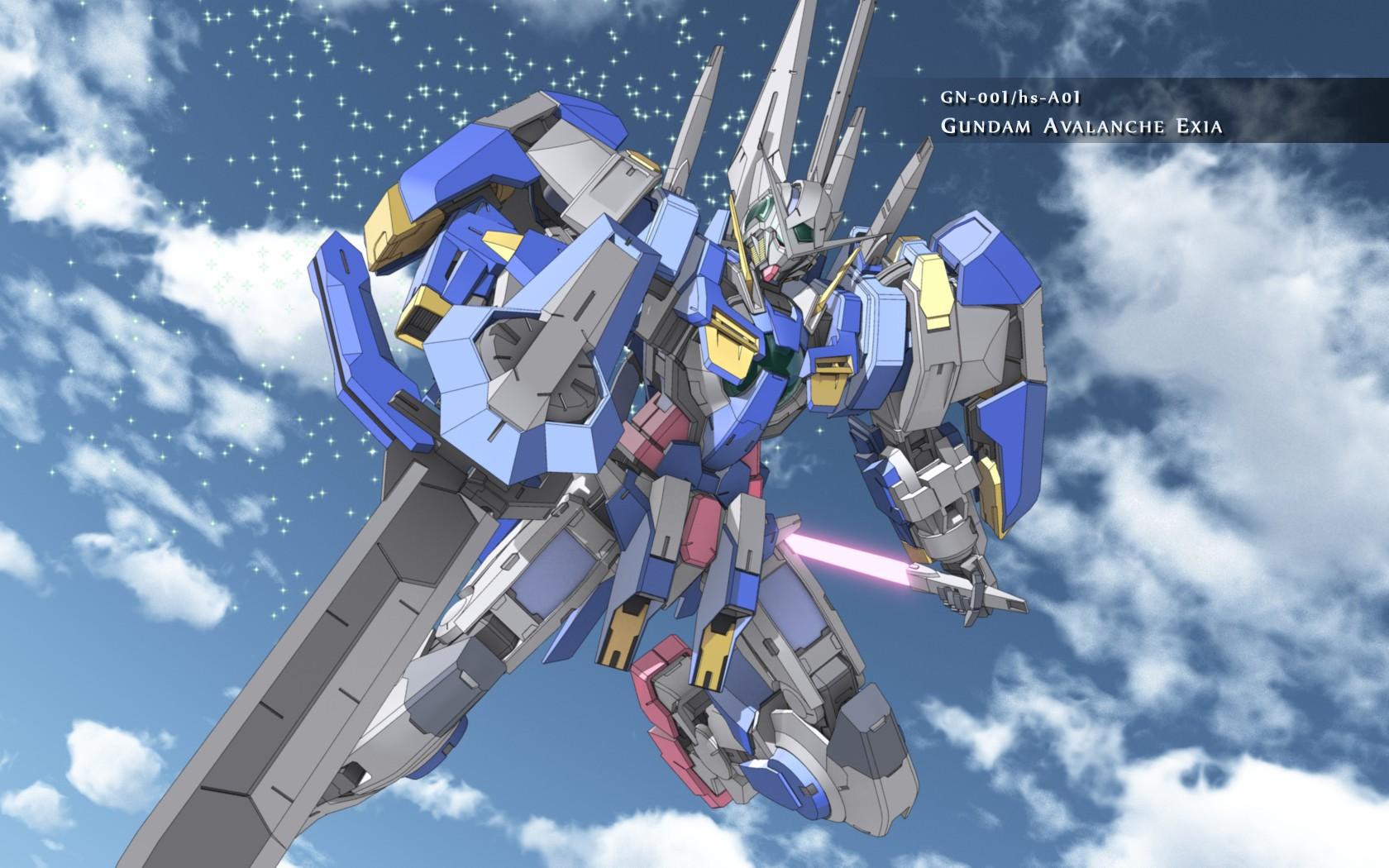 Image   Gundam Avalanche Exia Sky Wallpaper Widejpg   Gundam Wiki 1680x1050