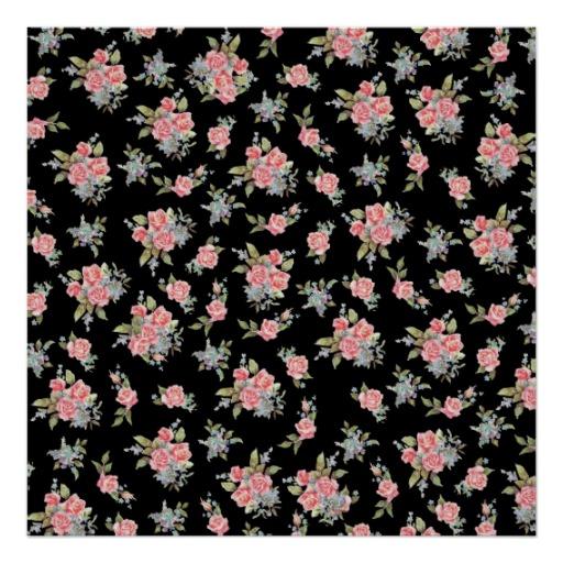 Printed Grasscloth Wallpaper: Floral Print Wallpaper