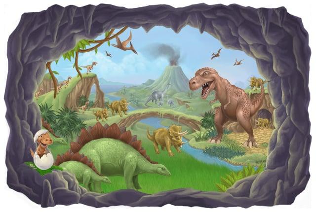 7 Inspiring Kid Room Color Options For Your Little Ones: [47+] Kids Dinosaur Wallpaper On WallpaperSafari