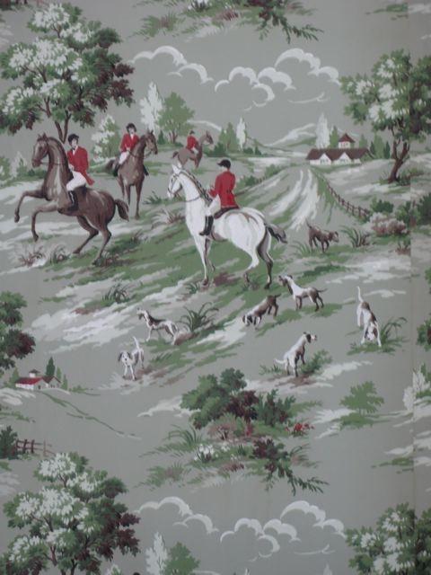 40s Fox Hunt Wallpaper For the Home Pinterest 480x640