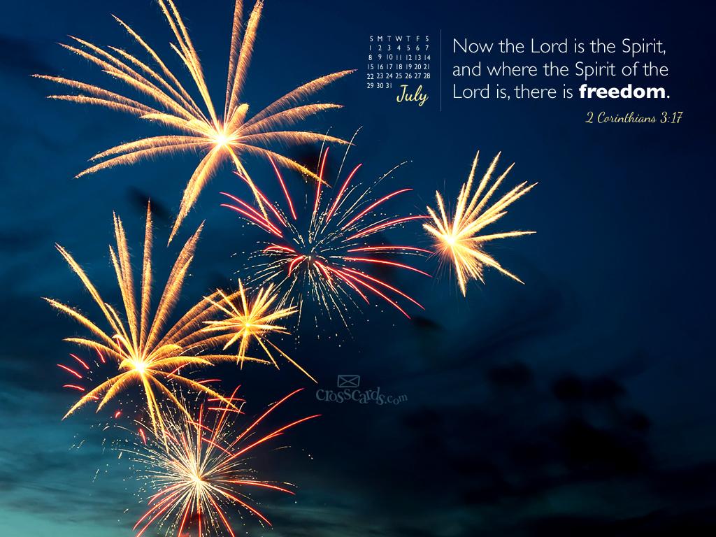 July 2012   Fireworks Desktop Calendar  Monthly Calendars 1024x768