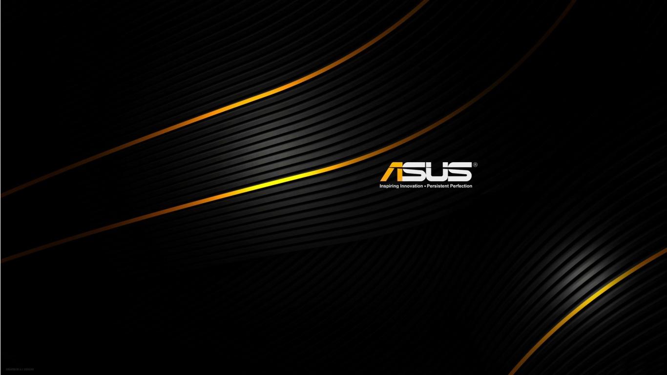 Asus Wallpapers Widescreen: Black ASUS Wallpaper 1366x768