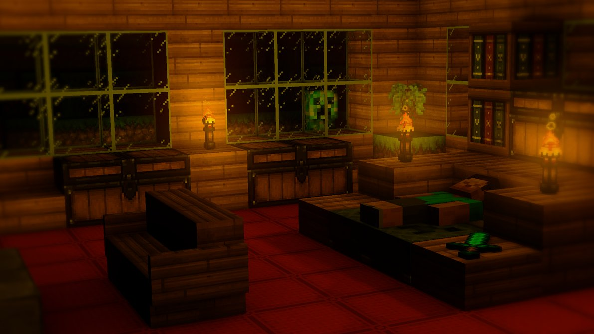 Minecraft 3D room by TheEvOlLuTiOnS 1191x670