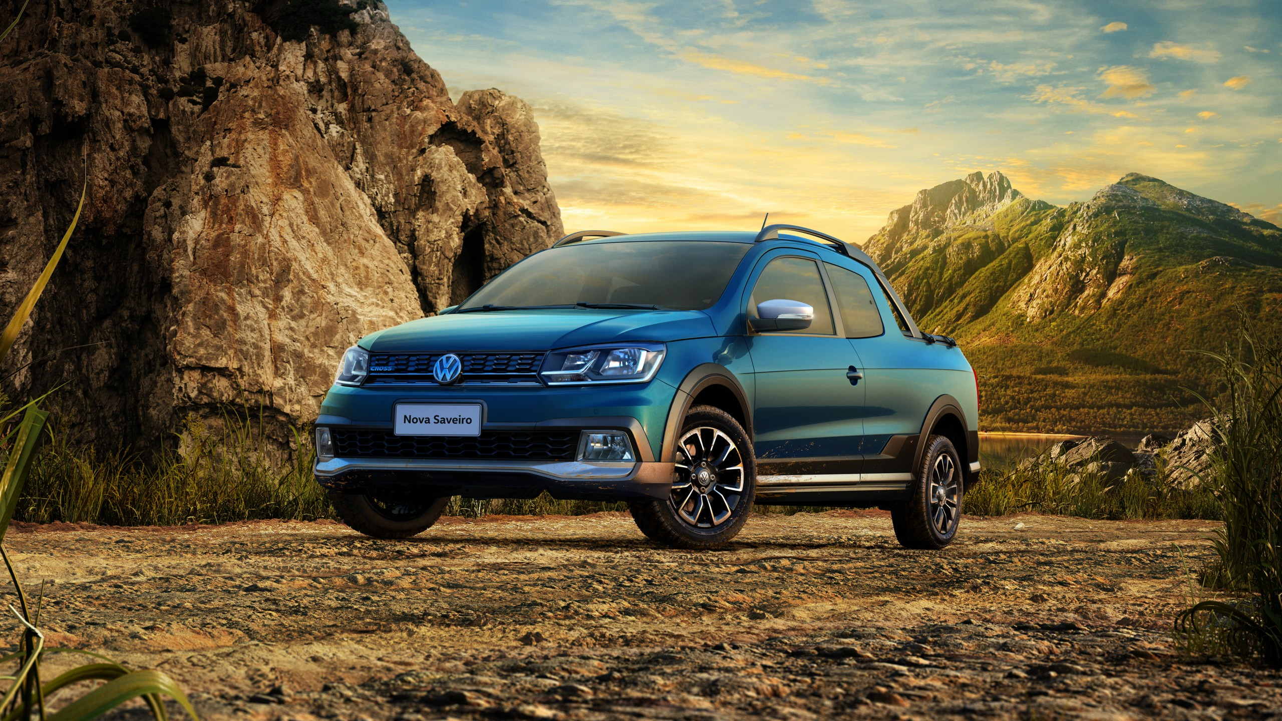 Wallpaper Volkswagen Saveiro Cross CD pickup blue Cars Bikes 2560x1440