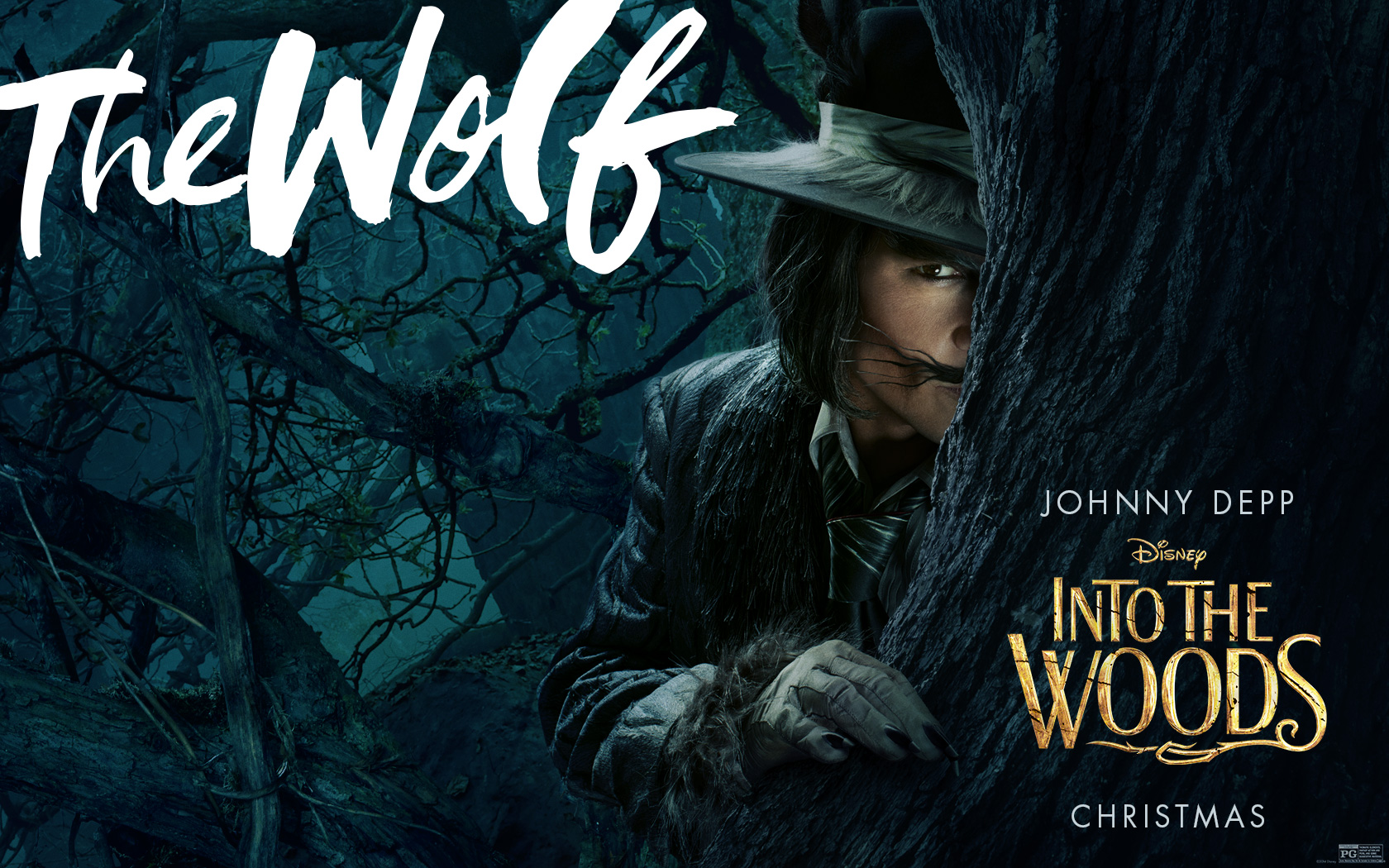 Into The Woods wallpaper The Wolf by silfiriel 1680x1050