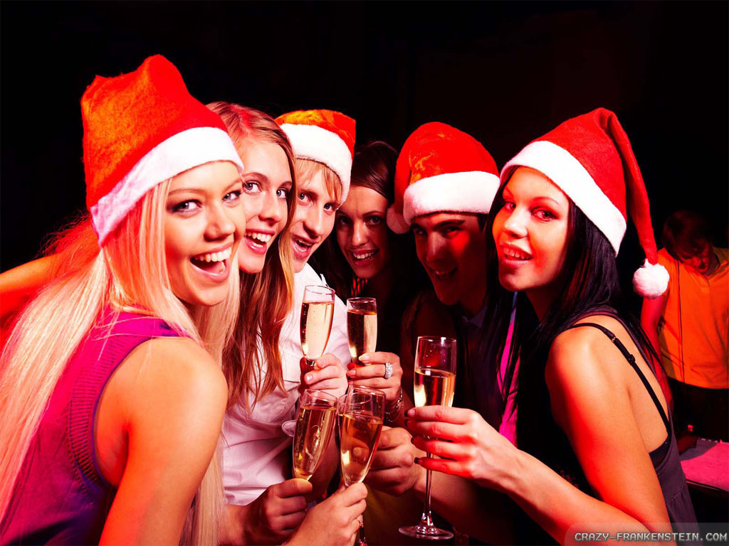 Christmas Party wallpapers   Crazy Frankenstein 1024x768