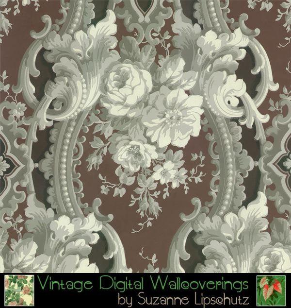 DIG 62103 Suzanne Lipschutz Vintage Digital Reproduction Wallpaper 600x634
