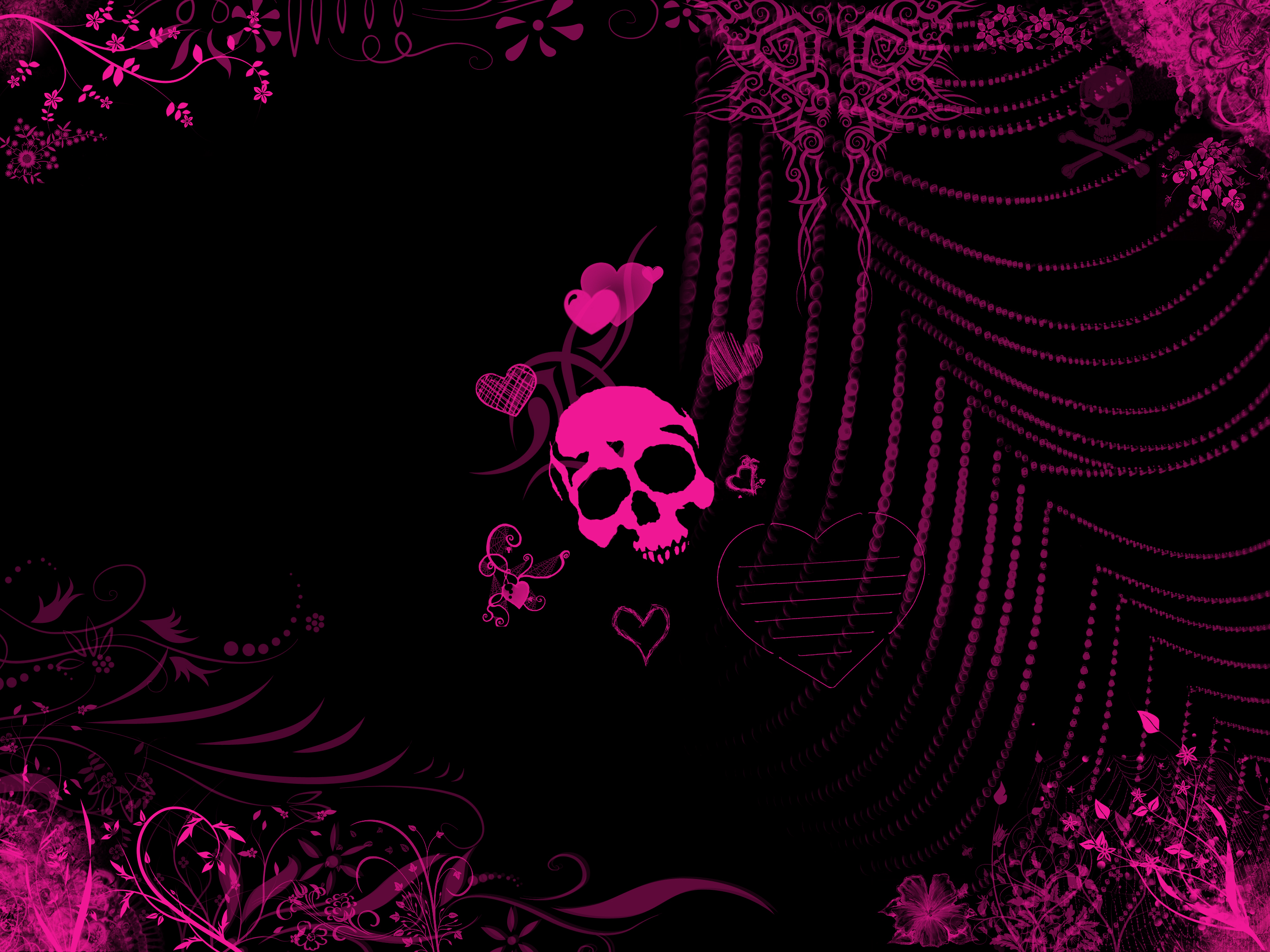 Free download Girly Skull Wallpaper Related wallpaper for