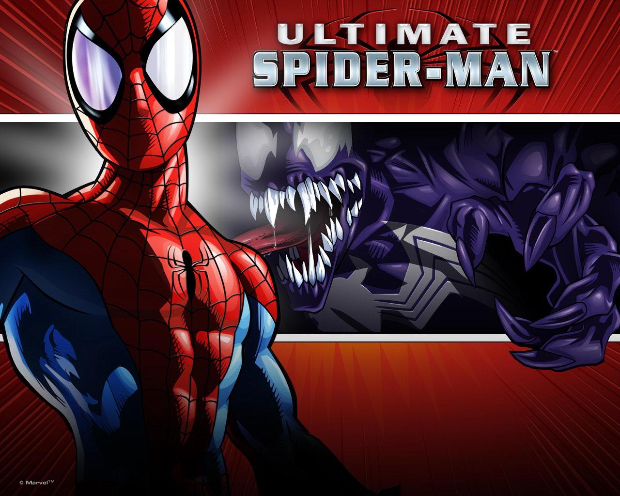 ultimate spider man venom street venom 1280x1024