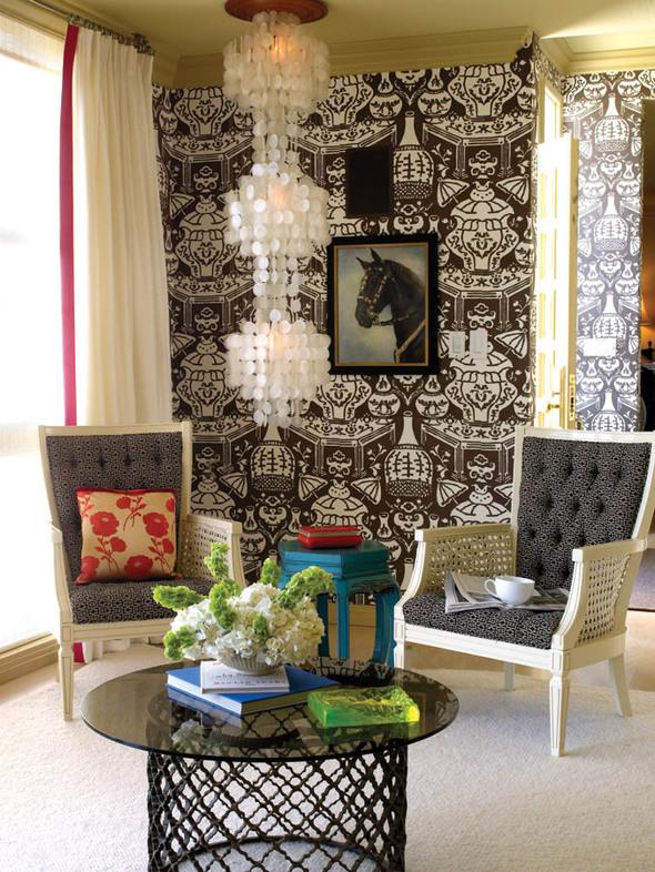Inspiraction Decor Ideas David Hicks The Vase Clarence House Wallpaper 590x786