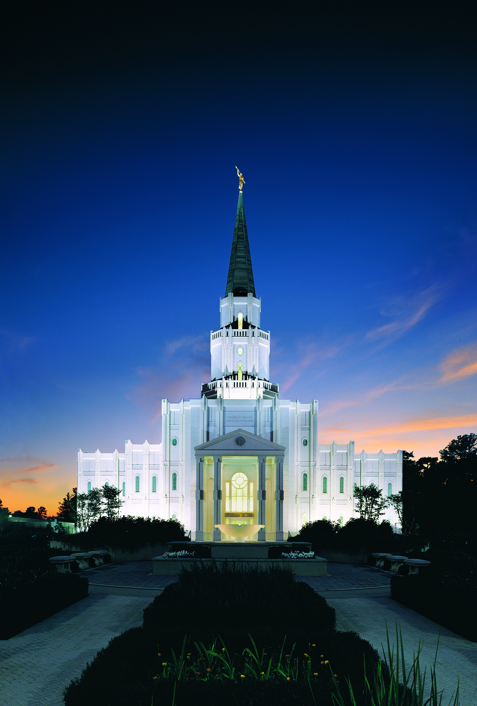 The Houston Texas Temple at Night 1600x2369
