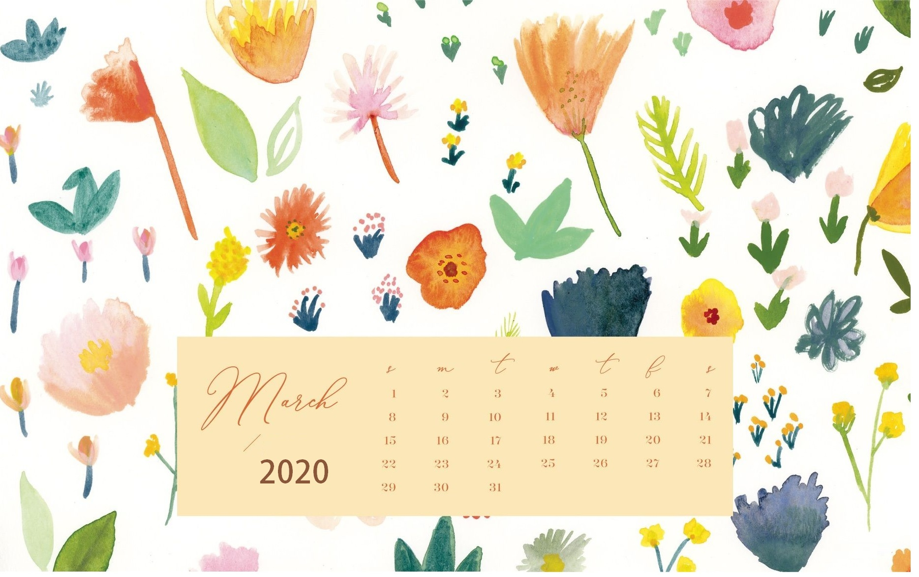 Cute 2020 Desktop Calendar Wallpaper Latest Calendar 1868x1172