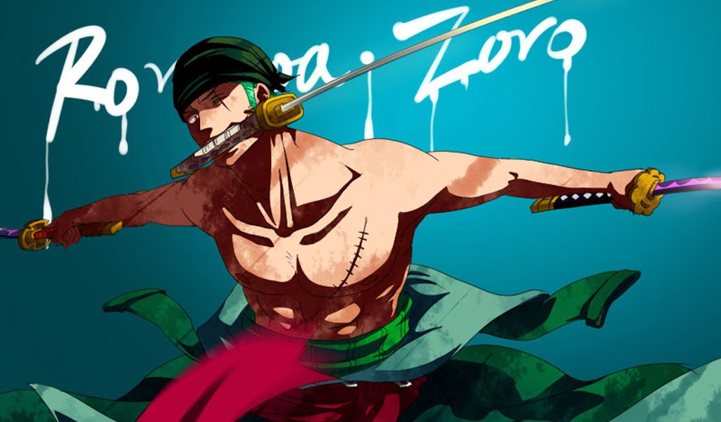 Zoro One Piece Anime 2b Wallpaper HD 1024x600