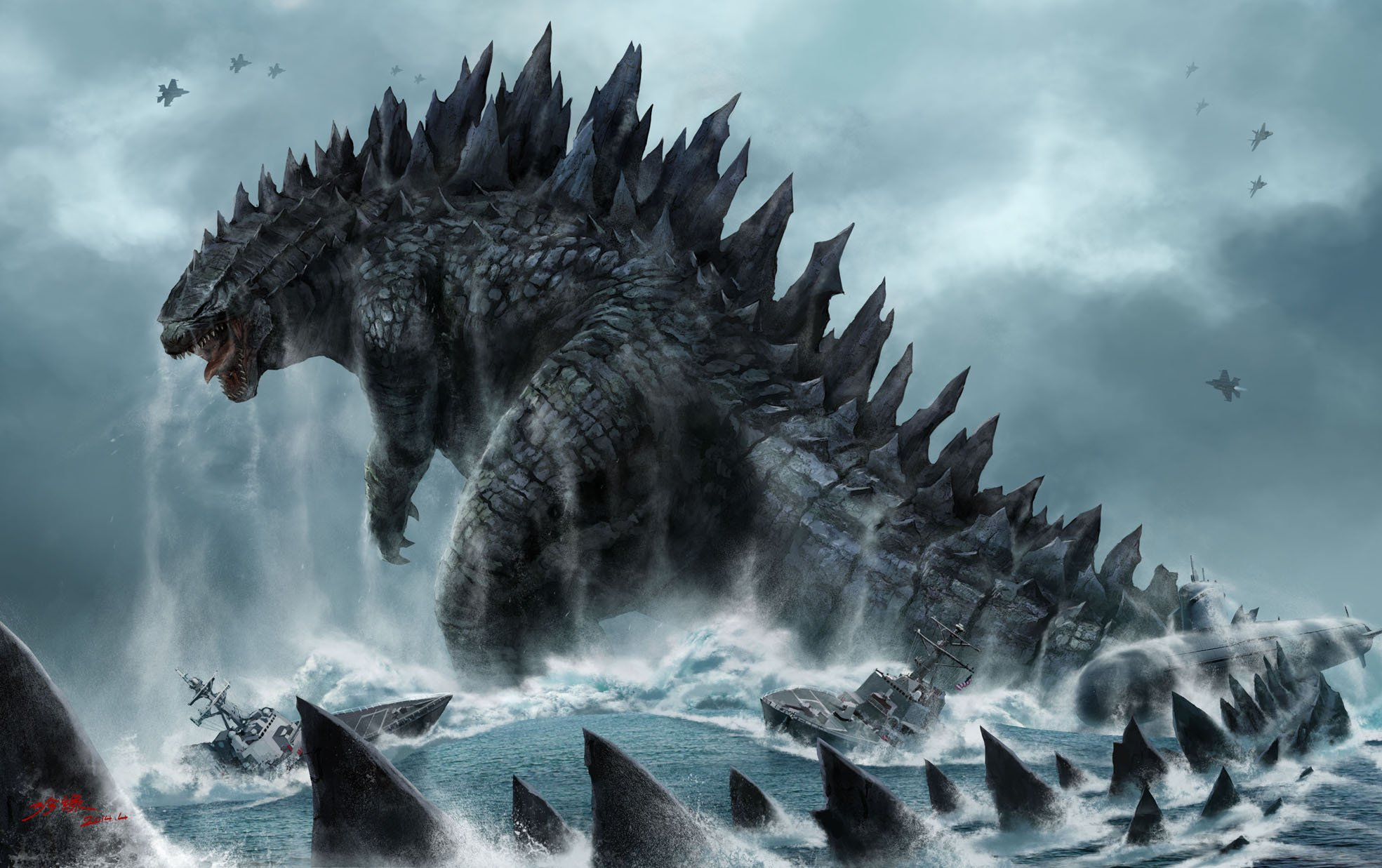Godzilla Wallpaper Latest Hd Wallpapers 1969x1237