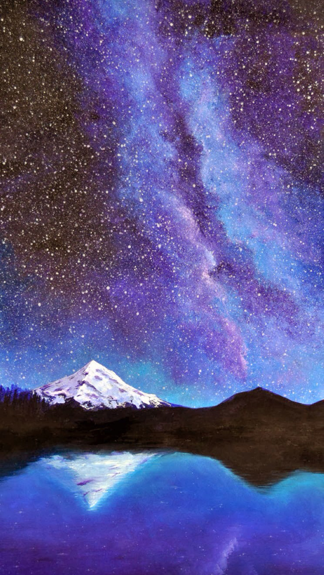49 Iphone Milky Way Wallpaper On Wallpapersafari