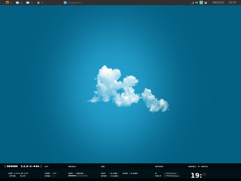 Fluxbox Cloud by lantekdeviantartcom Linux in 2019 1024x768