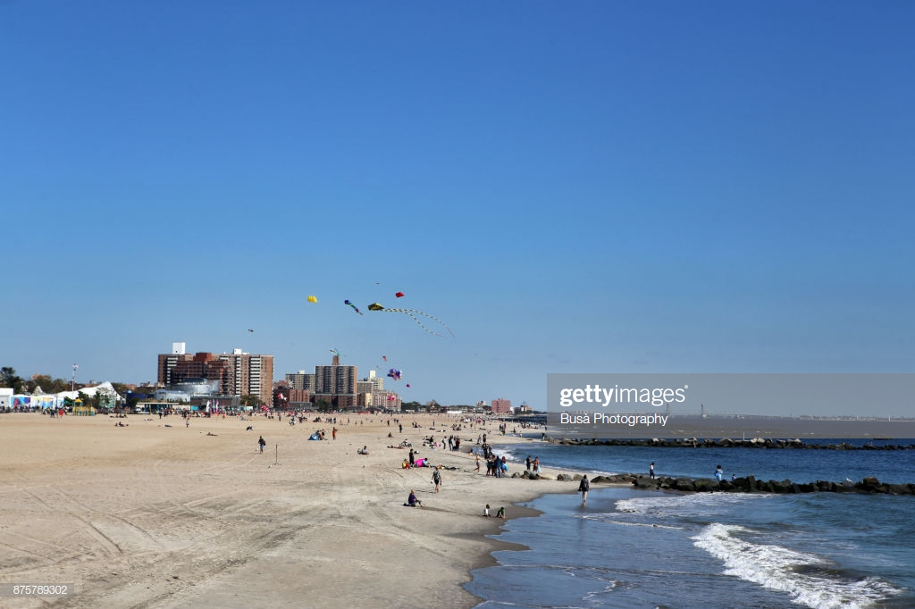 The Beach Of Coney Island With The Brighton Towers Apartment 1024x682