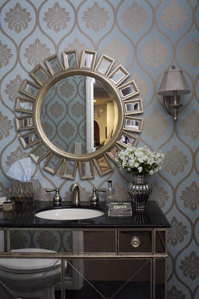 Metallic Wallpaper   Contemporary   bathroom   Artistic Designs for 399x600