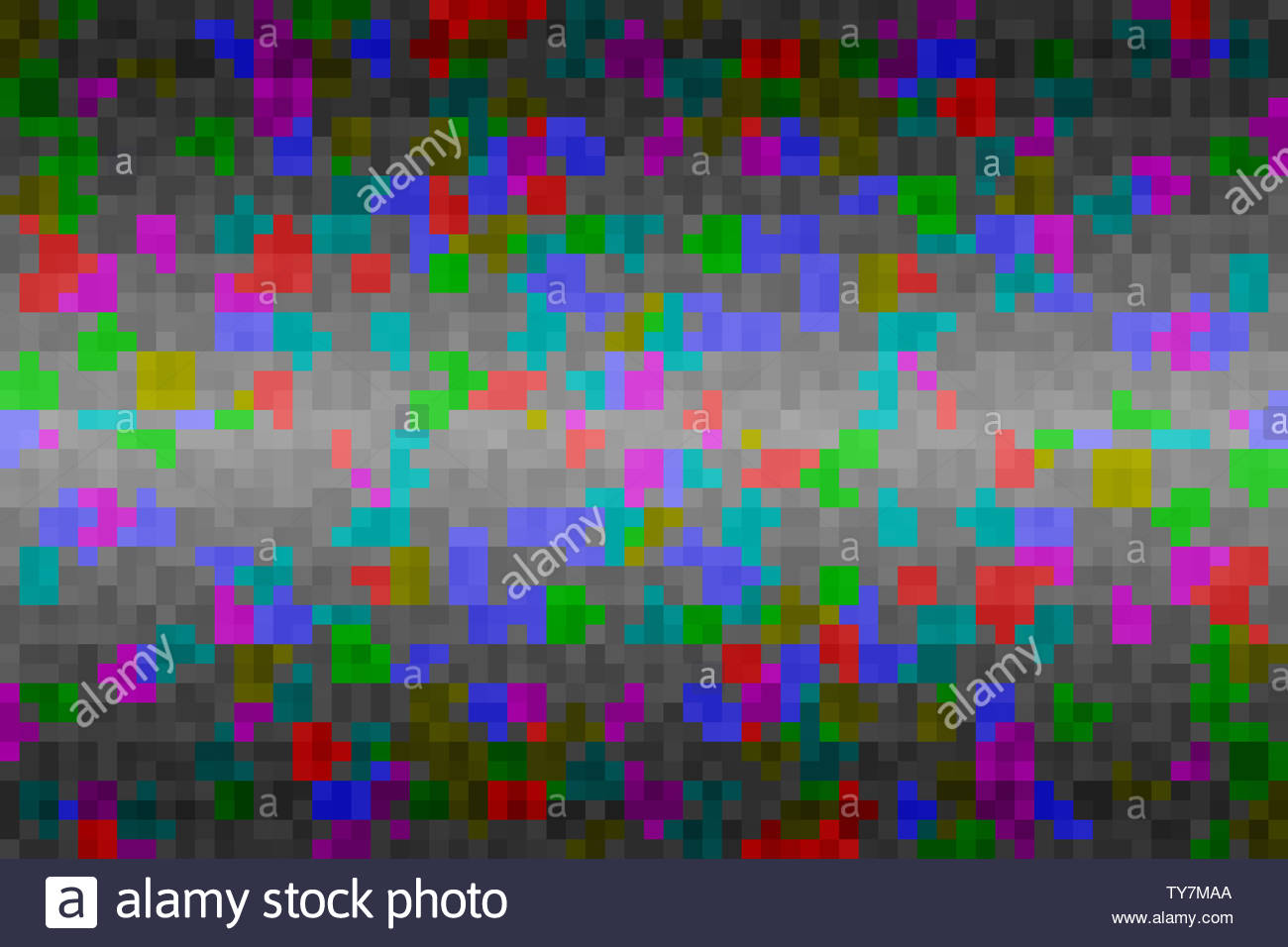 Abstract colorful glitch gradient background Texture with pixel 1300x956